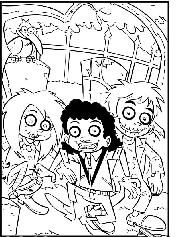 Creepy coloring pages az coloring pages for Spooky halloween coloring pages
