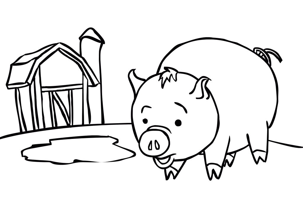 coloring pages baby pigs - photo#17