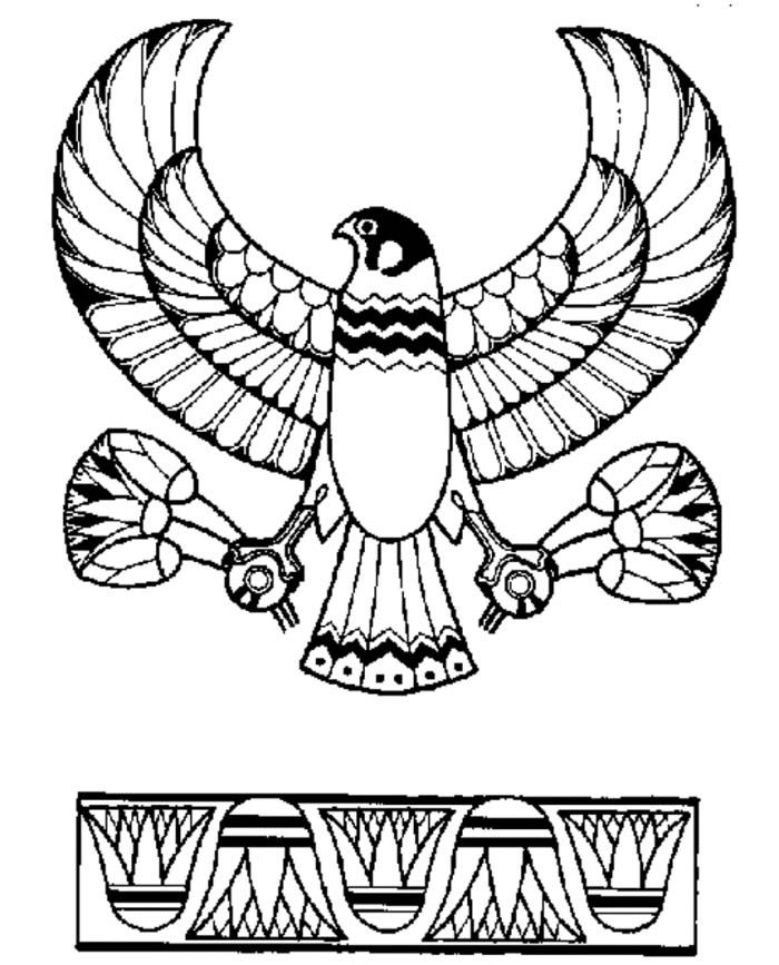 Ancient Egypt Eagle God Horus Emblem Coloring Page Ancient Egypt
