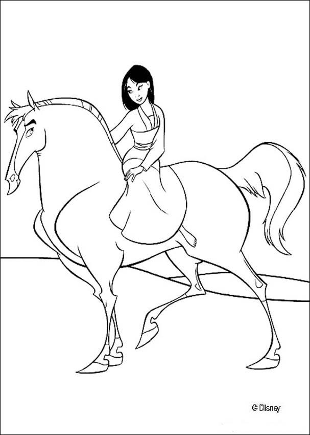 princess horse coloring pages - photo#11