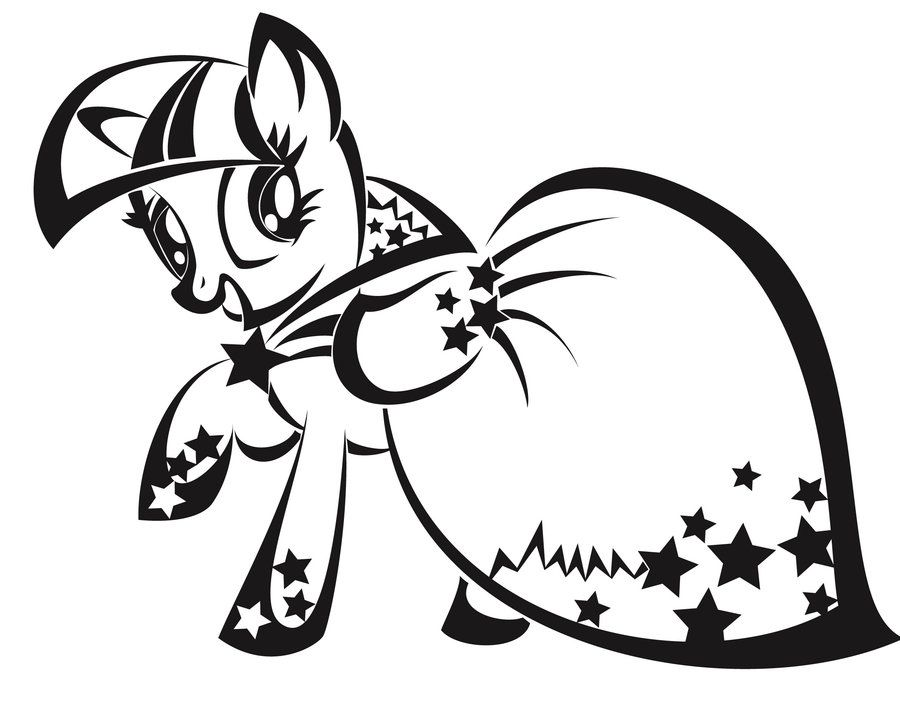 My Little Pony Twilight Sparkle Coloring Pages - Coloring Home