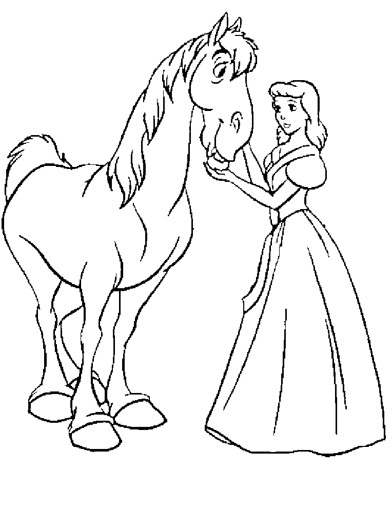 Coloring Pages Princess Pony : Princess horse coloring pages home