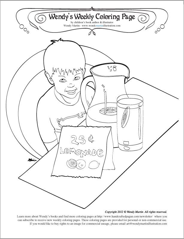 Lemonade Stand Coloring Pages - Coloring Home