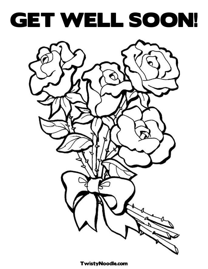 get well cards coloring pages - photo#12