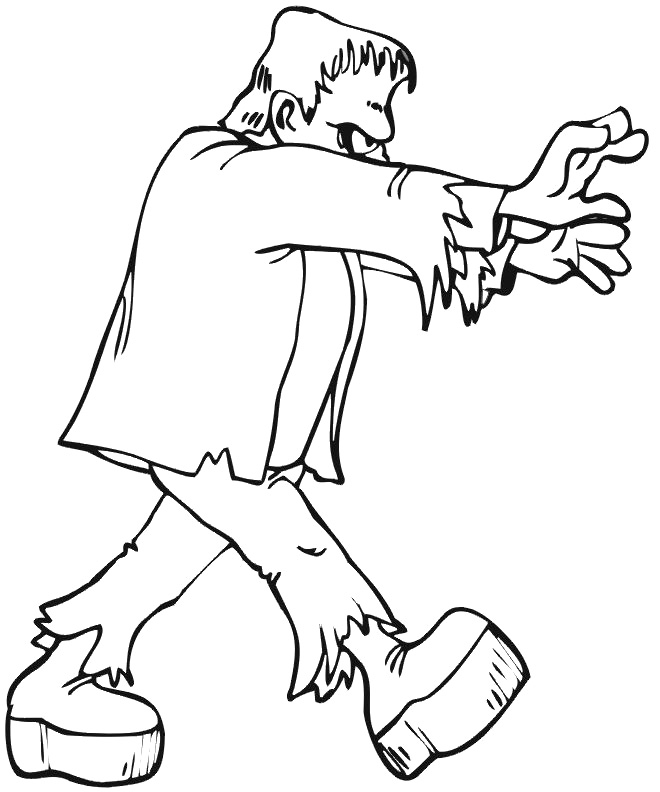 Frankenstein free coloring pages for Frankenstein coloring pages to print