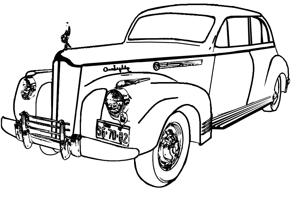 pin old car coloring - photo #28