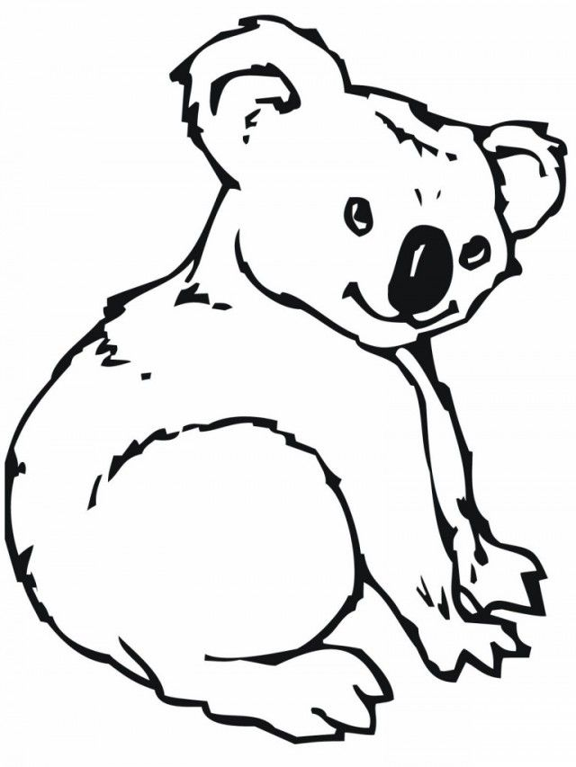 Koala Coloring Pages For Kids | Coloring Pages