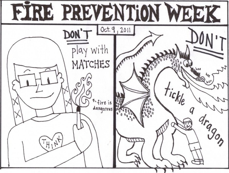 Fire Safety Coloring Pages For Kids - Coloring Home