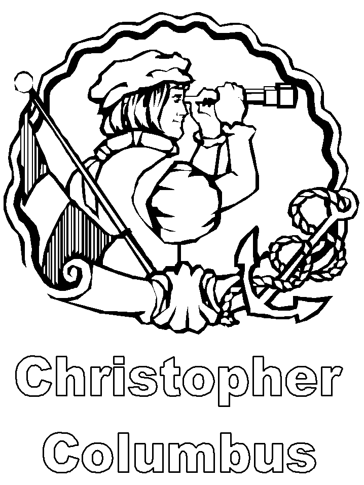 Columbus Day Coloring Pages For Kids- Printable Coloring Book Pages ...