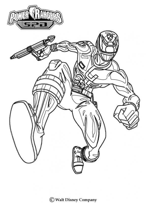 POWER RANGERS coloring pages - Attack!
