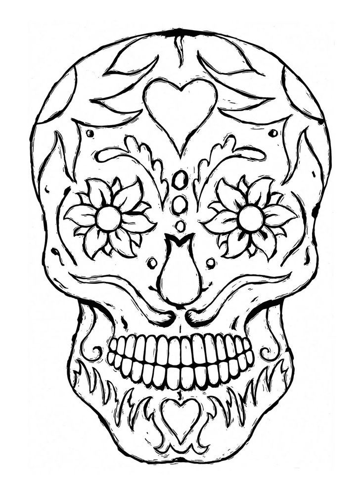 Sugar Skull Coloring Page - Coloring Home