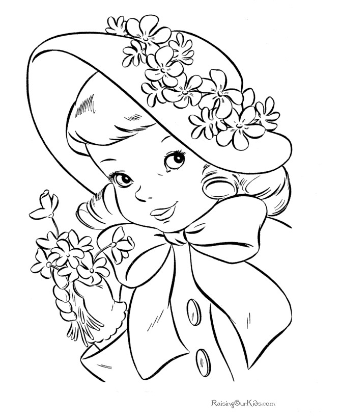 tea party coloring pages free - photo#33