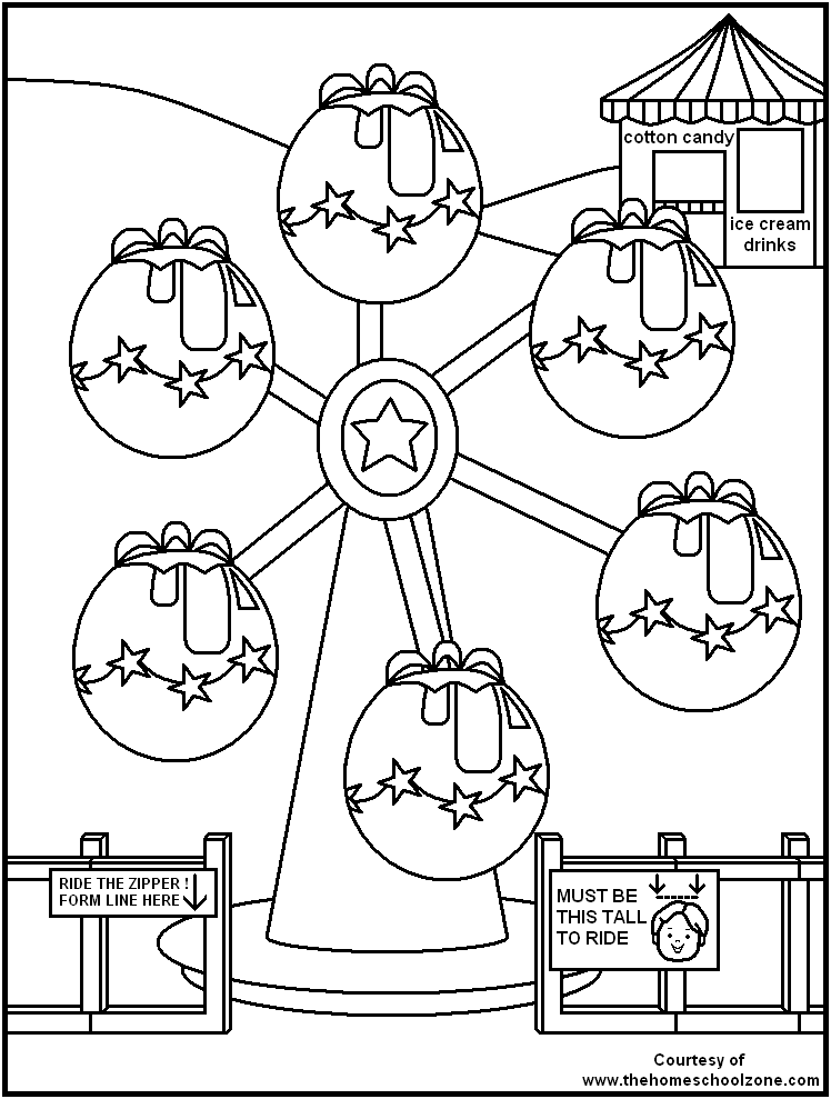 Carnival Rides Coloring Pages Az Coloring Pages Carnival Coloring Pages