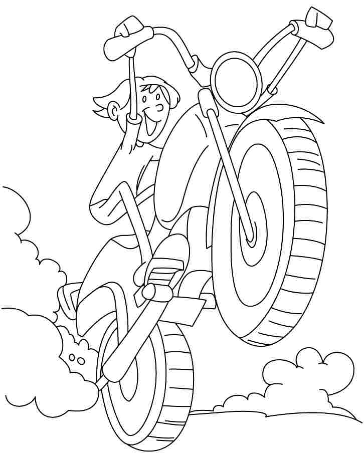 free printable motorcycle coloring pages - printable motorcycle pictures coloring home