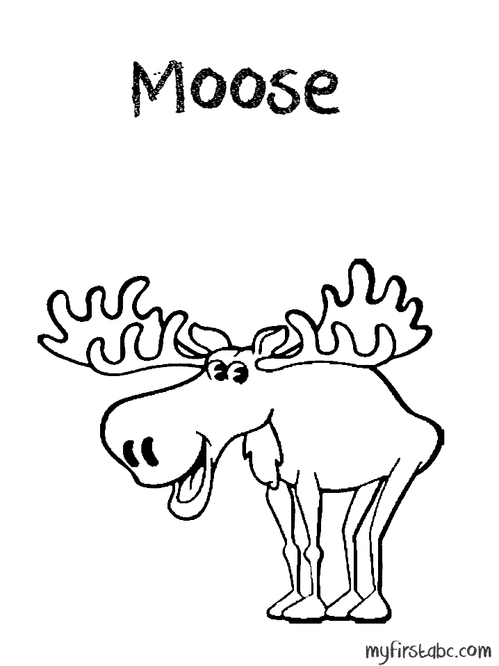 Moose Coloring Pages Coloring Home Moose Colouring Pages