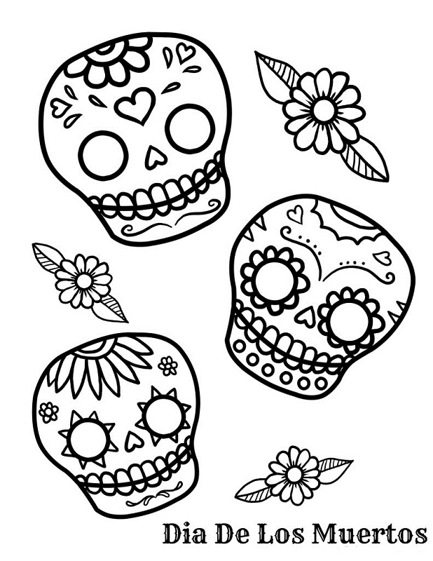 sugar candy skulls coloring pages - photo#33
