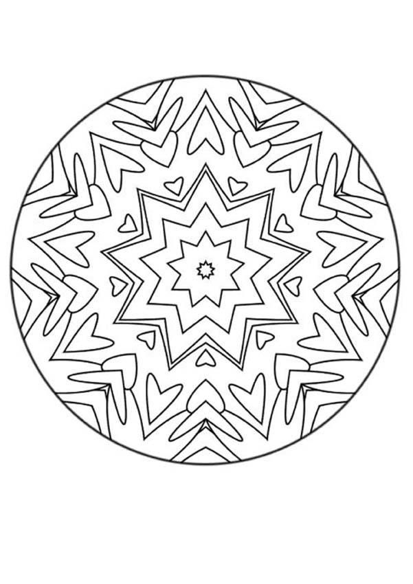 Therapeutic Mandala Coloring Pages - Coloring Home