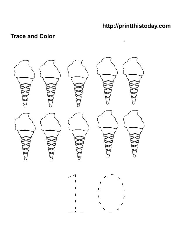 Free Printable Summer Maths Worksheets For Preschool Print This -  Coloring Home