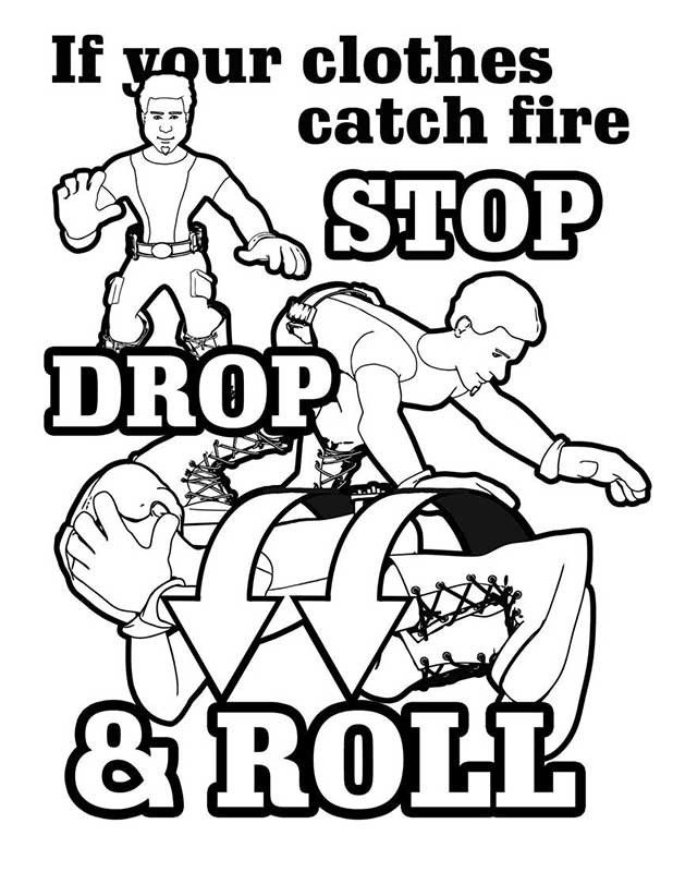child fire safety coloring pages - photo#30