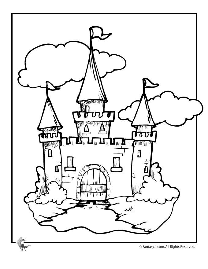 Free Coloring Pages Knights And Castles : Castle and knights az coloring pages