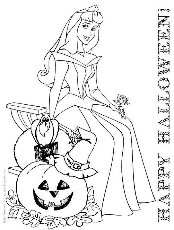 Halloween Disney Coloring Pages Printables