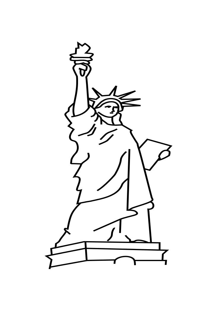 Statue Of Liberty Coloring Page For Kids Coloring Home Statue Of Liberty Coloring Page