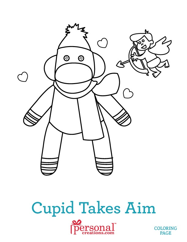 Sock Monkeys in Love: Kids Coloring Pages | Personal Creations Blog