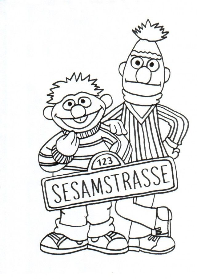 Bert And Ernie Coloring Pages - Coloring Home