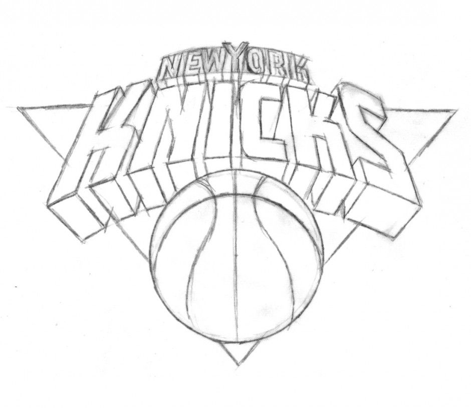 Knicks Coloring Nba Logo Coloring Pages Kids Coloring