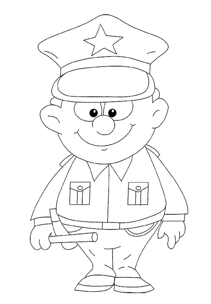 policeman coloring pages kids - photo#12