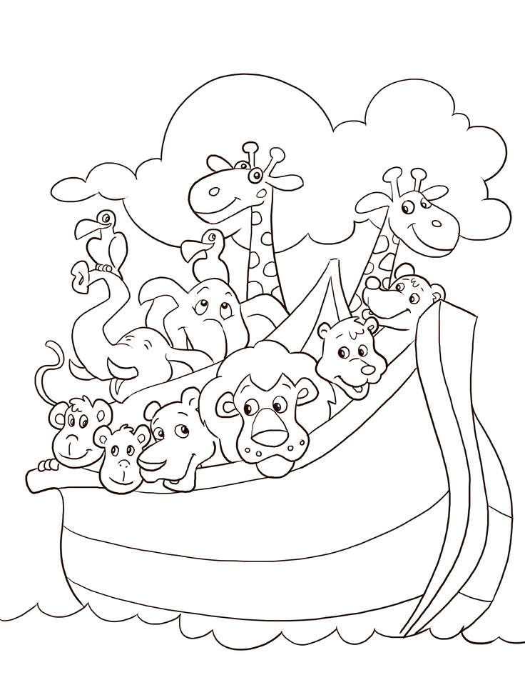 Noah ark coloring page az coloring pages for Ark coloring page