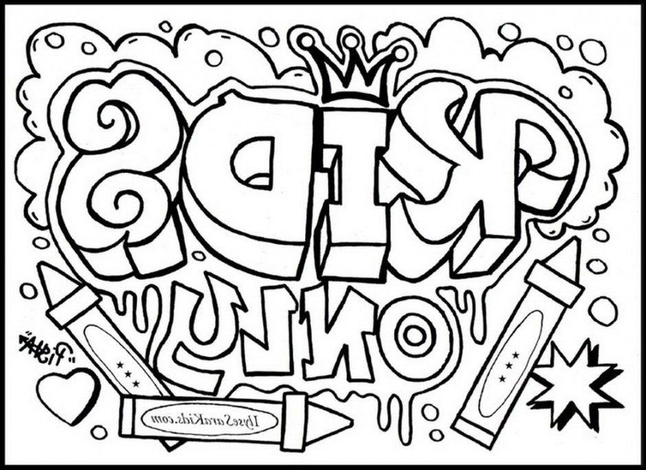 cool design coloring pages graffiti creator page stencils 468273 - Design Coloring Pages