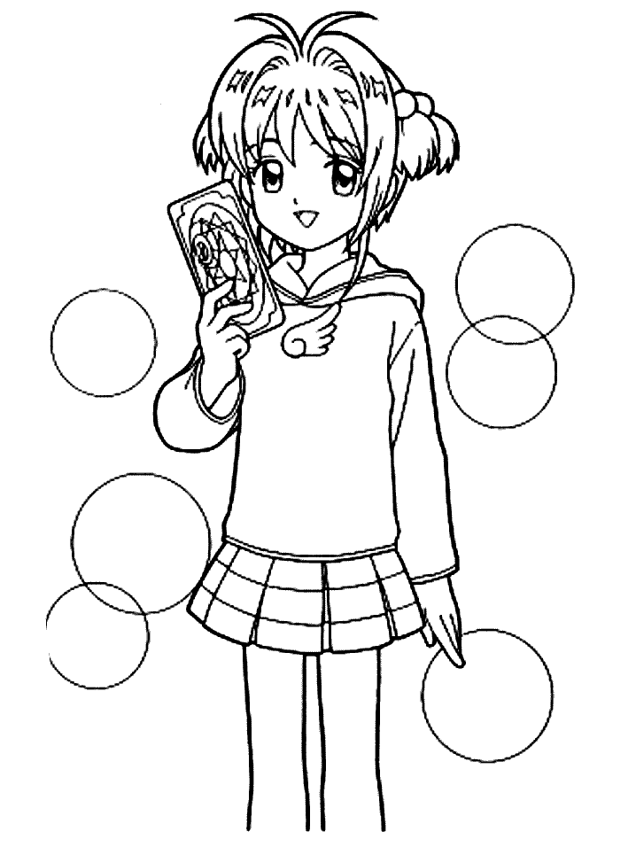 card captors colouring pages