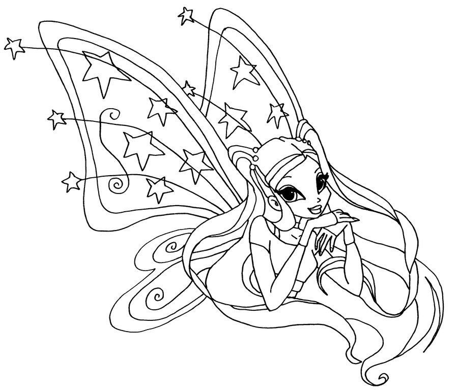 the winx coloring pages - winx club coloring pages enchantix az coloring pages
