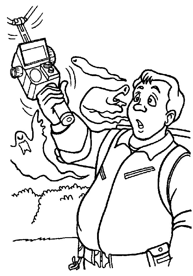 real ghostbusters coloring pages - photo#2
