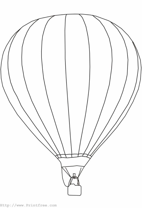 Hot Air Balloon Outline Az Coloring Pages