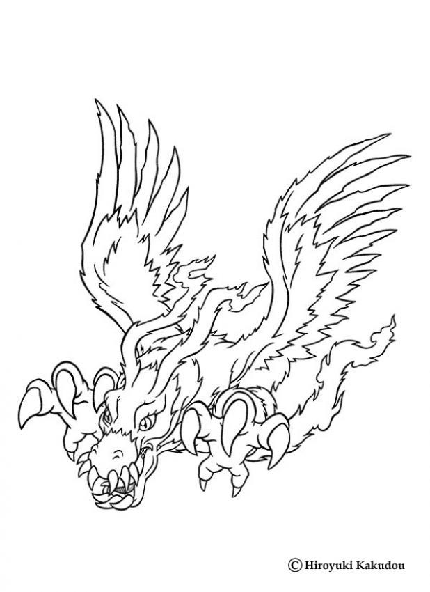 digimon weregarurumon coloring pages - photo#16
