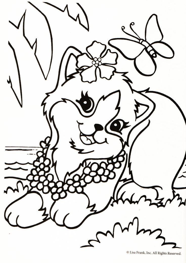 lisa frank free coloring pages - photo#7
