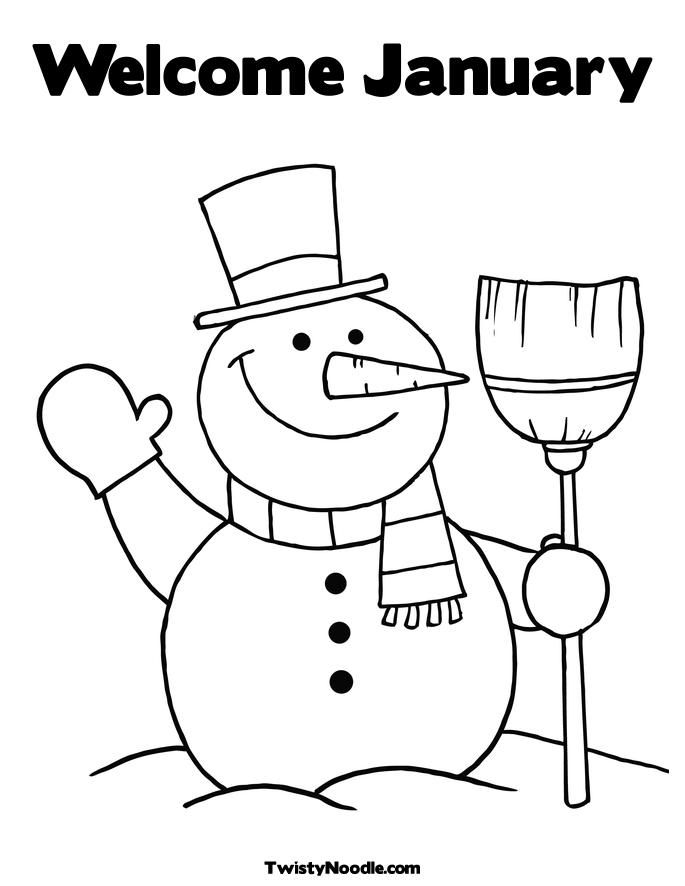 January Coloring Pages Coloring