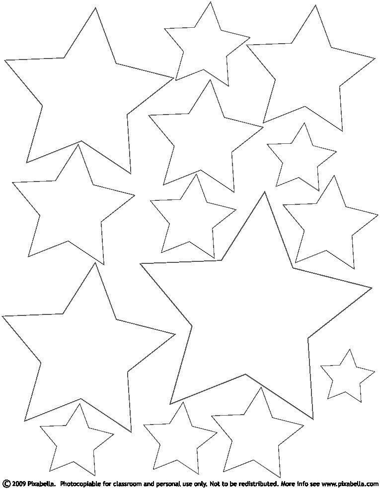 coloring pages for stars - photo#27