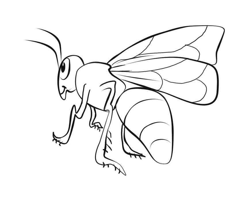 Small Printable Bee Coloring Pages - Coloring Home