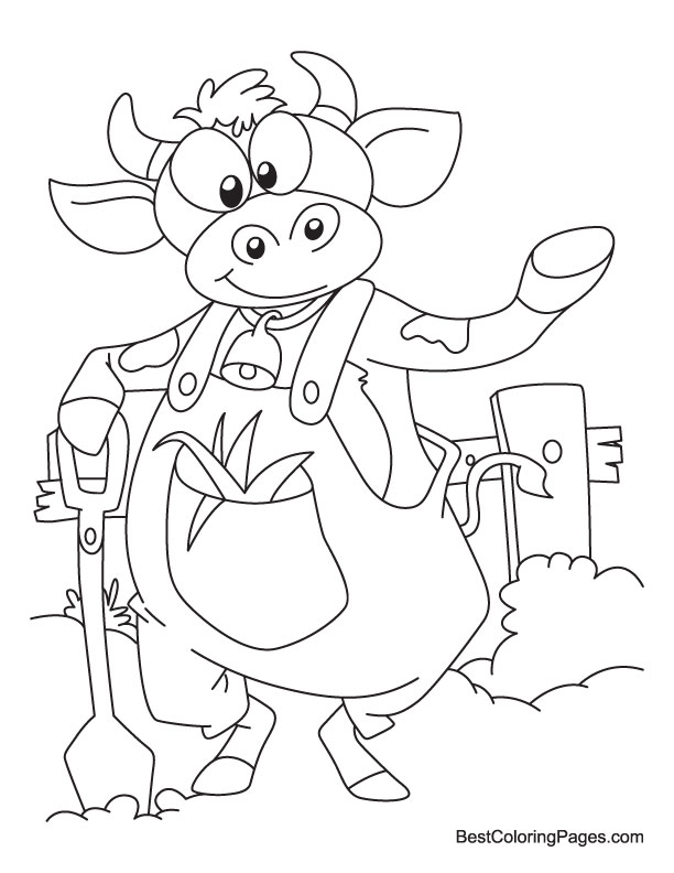 c is for cow coloring pages - photo #47