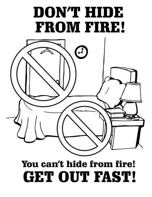 kids fire prevention coloring pages - photo#3