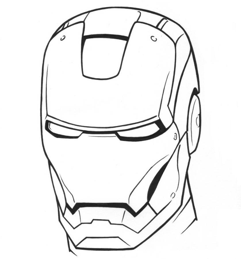 iron man masks Colouring Pages