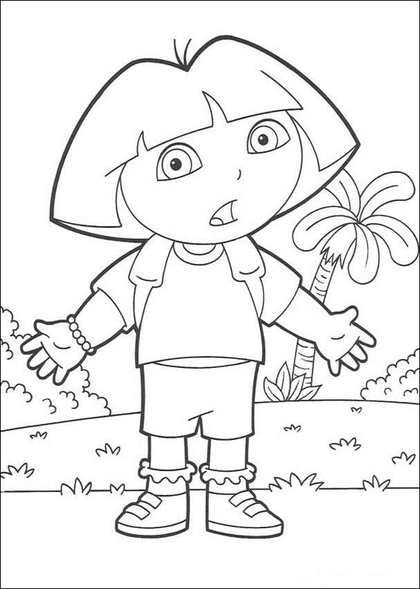 dora the explorer coloring pages happy birthday boots - Dora The Explorer Coloring Book