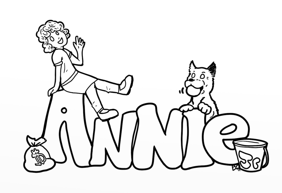coloring pages little orphan annie - photo#2