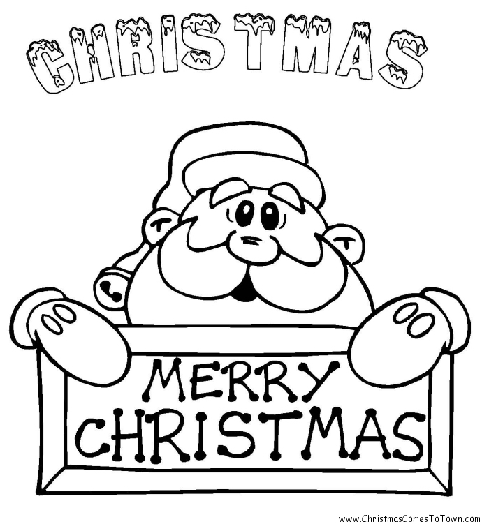 Download and print these Of Santa coloring pages for free. Of Santa ...
