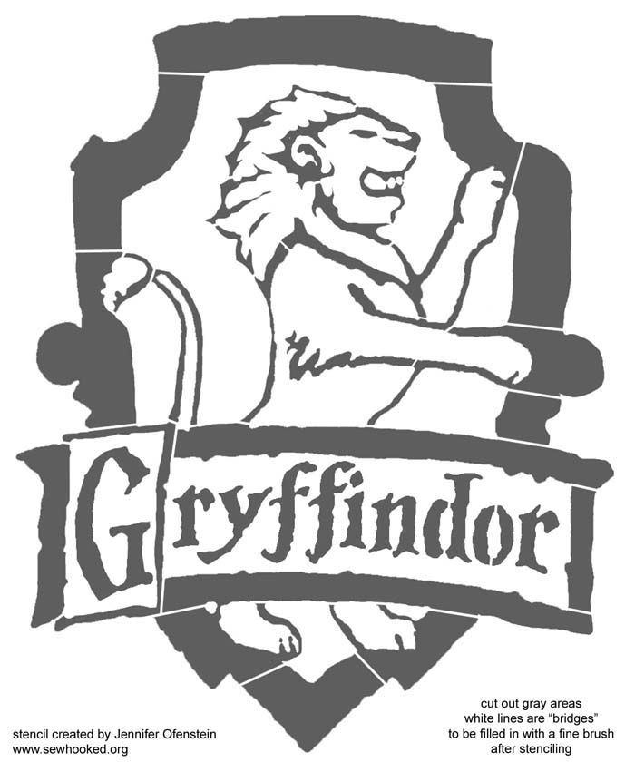 gryffindor crest coloring pages - photo#30