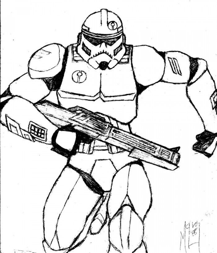 Clone Trooper Coloring Page Educations | 99coloring.com
