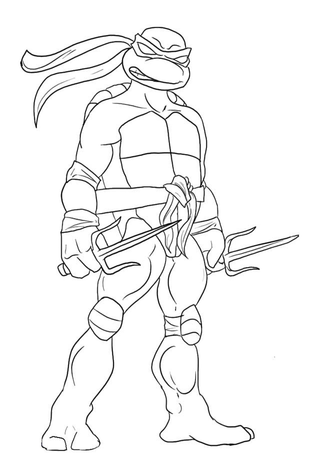 Teenage Mutant Ninja Turtles Coloring Pages : Leonardo Ninja